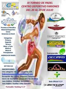 CARTEL OPEN DE FARIONES EN CANARIAS 2013