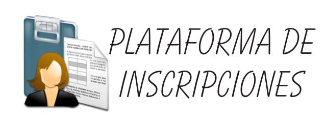 Plataforma inscripciones