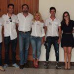 El presidente del Cabildo de Lanzarote recibió a los campeones del mundo de la clase J 80 con el 'Hotel Princesa Yaiza Sailing Team'