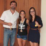 El presidente del Cabildo de Lanzarote recibió a Diana López, bronce en el Campeonato del Mundo y campeona de España de Ultra-Pole