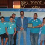 El presidente del Cabildo de Lanzarote recibió al Club de Piragüismo Marlines, que consiguió seis medallas en el Campeonato de España de Kayak de Mar