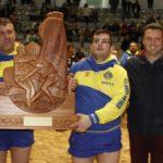 El presidente del Cabildo felicita al Club de Lucha Unión Sur Yaiza, campeón del 'XXXIV Torneo de Liga Cabildo de Lanzarote'