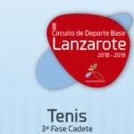 III Circuito de Deporte Base 2018-2019 Tenis