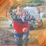 Mañana miércoles comienza el XX Torneo de Bola Canaria de Madera Abuelos Conejeros